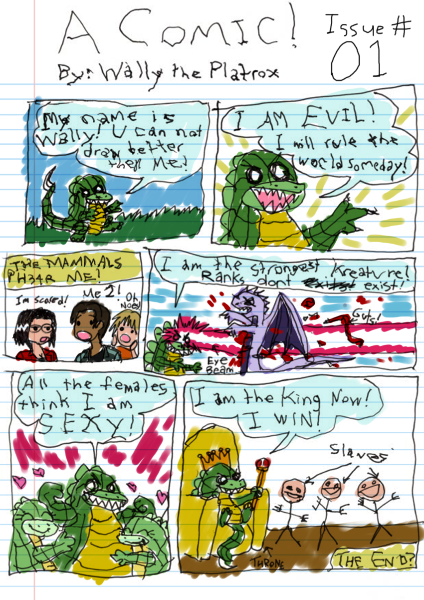 OOC: I didn't actually tone down my artistic ability for this. I drew this comic with my left hand so it would be authentically crappy instead of fake crappy. This is seriously the best I can do with it.